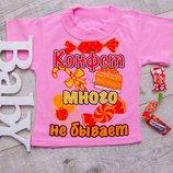 Яркие футболочки для девочек розовые 26р, 28р и 30р с надписями