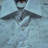 Шведка для мальчика Sanyouli приталенная белая с рисунком