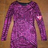 Роскошное и гламурное стрейчевое платье, в пайетках.цвет фиолет,баклажан.lashes, 44.