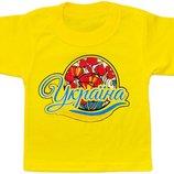 Нарядные детские и яркие футболочки с украинской символикой 28р, 30р, 32р, 34р.