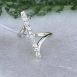 Кольцо серебряное Верона белая
