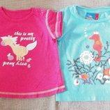 Две веселые футболочки для малышки на 1.5 2 года р 80-Topolino