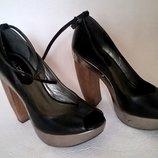 женские туфли на платформе кожа размер 39