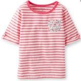 Футболка Carters розовая полосочка для девочек