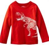 Регланчик OshKosh красный Динозавр