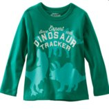 Регланчик OshKosh зеленый Динозавры