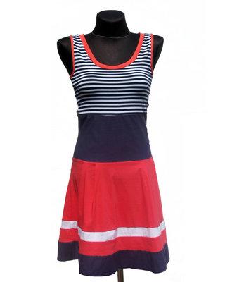 Суперцена. Классное летнее платье, полоска. Спинка гипюр. Новое, р. 42-44