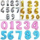 Фольгированные цифры 70- 80 см.надувные шары