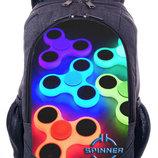 Купить школьный рюкзак принт спиннер spinner городской рюкзак