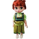 Кукла Анна Фрозен в зеленом платье 40см Холодное сердце R28