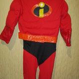 Карнавальный костюм супергероя из мф Супер семейка. George Disney 3-4г