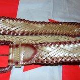 Стильний кожаний ремень пояс бренд Solido.102 см
