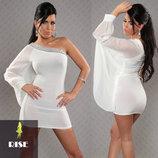 Очень красивое и нарядное белое платье rise