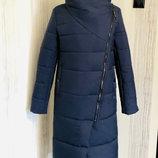 новое 44-54 р длинное зимнее пуховик пальто-одеяло довге зимове зимнее пальто