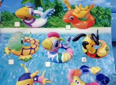 Круг надувной звери 55см bt-ig-0045 звери Есть лягушка, собачка, зебра, гусеничка, черепаха, лось