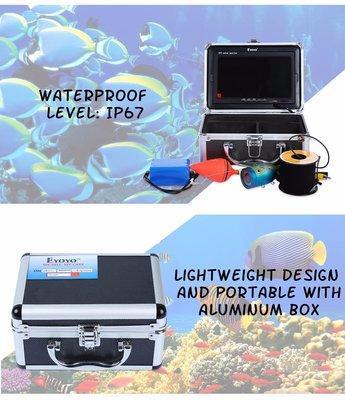 Подводная видеокамера с возможностью видеозаписи с 50-метровым кабелем повышенной прочности
