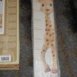 шикарный ростомер для детской комнаты Жирафа Софи Vulli Франция оригинал