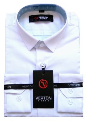 Рубашка с длинным и коротким рукавом тенниска белая, рост 122-164 , Турция