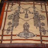 платок SEVINI оригинал шелк принт Германия 17 век 84Х85 винтаж
