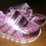 Кроссовки со светодиодной LED подсветкой подошвы