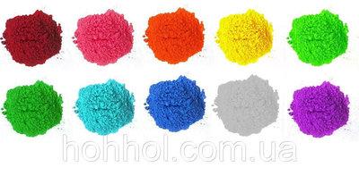 Краски Холи Гулал , Фарба Холі, набір 10 кольорів по 100 грам