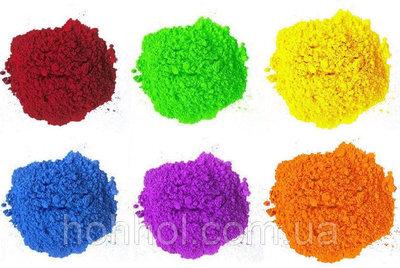 Краска Холи Гулал , Фарба Холі, набір 6 найпопулярніших кольорів по 50г