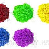 Краски Холи Гулал , Фарба Холі, набір з 5 популярних кольорів по 100 грам