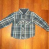 Стильная рубашка Matalan на 1-1,5 г. В идеальном состоянии.