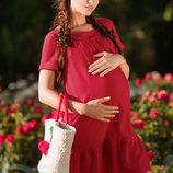 Яркое платье беременной