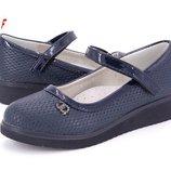 Туфли на девочку 30-37р черные, синие