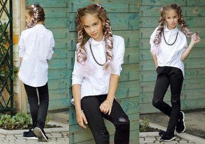 Детская стильная блузка-рубашка 289 Коттон Цепочка в расцветках.