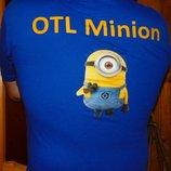 Фирменная стильная тениска поло футболка Minion м-л .