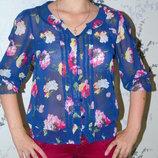 Сток Next Шикарная шифоновая блузка, блуза 8/42 красивая блузка