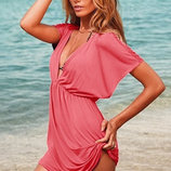 Пляжное платье- туника AL7018, 7 цветов