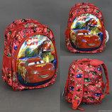 Рюкзак школьный 555-395 ТАЧКИ 3D рисунок, ортопедическая спинка