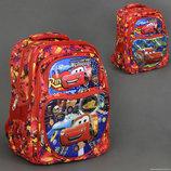 Рюкзак школьный 555-455 ТАЧКИ 5 отделений, 2 кармана, спинка ортопедическая