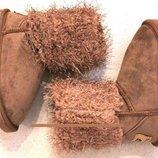 Детские Угги Kellaifeng/ унты сапоги ботинки теплые розовые для девочки