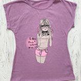 Летняя футболка для девочки подростка