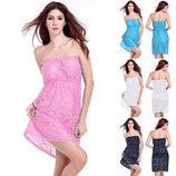 Платье пляжное на резинке, туника AL7032,