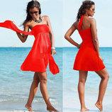 Пляжное платье - туника в цветах AL7034