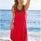 Пляжное платье с украшениями , туника разные цвета AL7309
