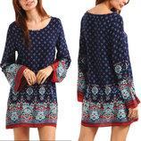Пляжное платье- туника с рисунком AL7303