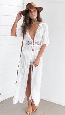 7c4ef89913343cc Пляжное белое платье длинное AL7787: 398 грн - парео и пляжные ...