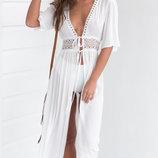 Пляжное белое платье длинное AL7787