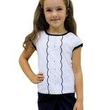 Блуза школьная рост 110-146