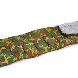 Спальный мешок одеяло с капюшоном 4062 спальник камуфляж 168 32х70см, от 10 до -10