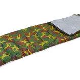 Спальный мешок одеяло с капюшоном 4051 спальник камуфляж 177 30х75см, от 15 до -5