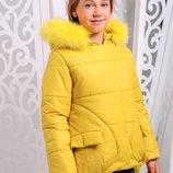 Зимняя асиметричная куртка для девочек 122-146р