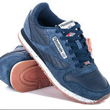 Кроссовки Reebok Classic blue,кожа, Топ качество