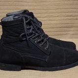 Стильные комбинированные фирменные ботинки цвета индиго Pull&Bear Испания. 41 р